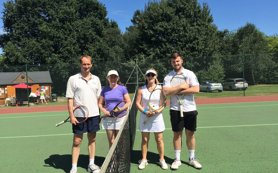 Mixed doubles finalists 2017